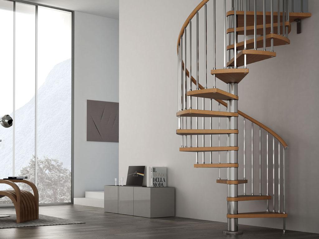Zen: platsbesparande trappa med en praktisk design för små ...